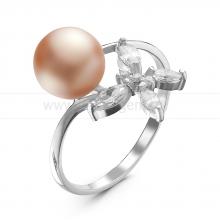 Кольцо из серебра с розовой речной жемчужиной. Артикул 10851