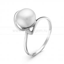 Кольцо из серебра с белой речной жемчужиной 8,5-9 мм. Артикул 10854