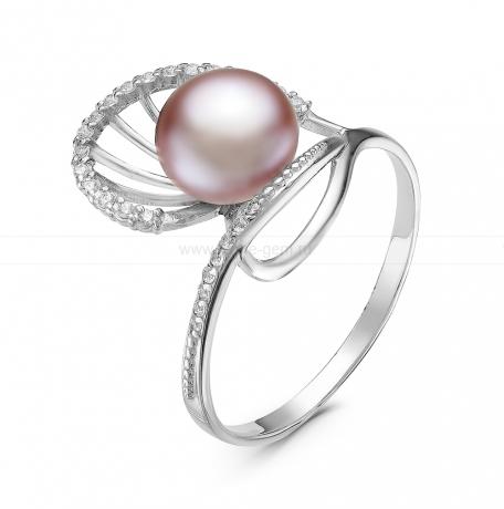 Кольцо из серебра с розовой речной жемчужиной. Артикул 10871