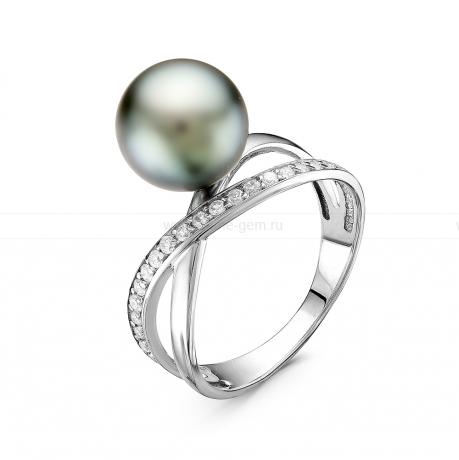 Кольцо из серебра с Таитянской морской жемчужиной 9-9,5 мм. Артикул 10881