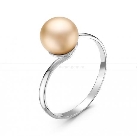 Кольцо из серебра с розовой жемчужиной 7,5-8 мм. Артикул 10883