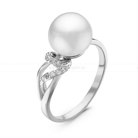 Кольцо из серебра с белой речной жемчужиной. Артикул 10884