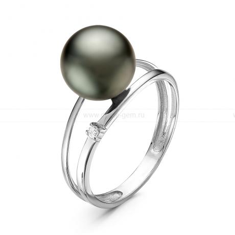Кольцо из серебра с Таитянской морской жемчужиной 9-9,5 мм. Артикул 10887