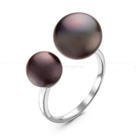 Кольцо с черными речными жемчужинами. Артикул 10895