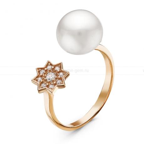 Кольцо с белой речной жемчужиной. Артикул 10904