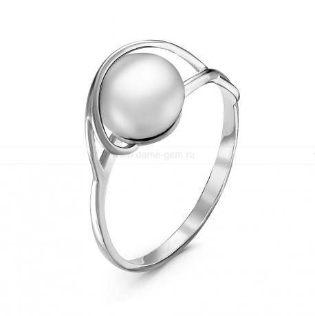 Кольцо из серебра с белой жемчужиной 7,5-8 мм. Артикул 10913