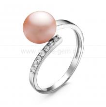 Кольцо из серебра с розовой речной жемчужиной. Артикул 10916