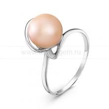 Кольцо из серебра с розовой речной жемчужиной. Артикул 10921