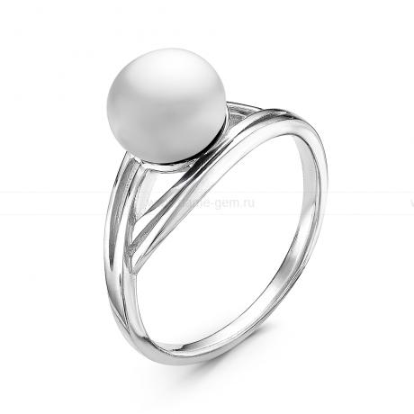 Кольцо из серебра с белой речной жемчужиной. Артикул 10924