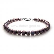 Ожерелье из 30 жемчужин из черного жемчуга. Артикул 10947