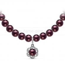 Ожерелье с кулоном из черного речного жемчуга. Артикул 10959