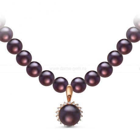Ожерелье с кулоном из черного речного жемчуга. Артикул 10960