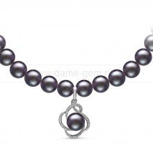 Ожерелье с кулоном из черного речного жемчуга. Артикул 10961