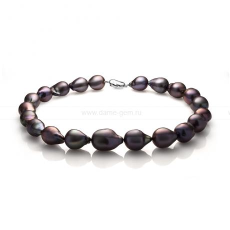 Колье (ожерелье) из черного барочного жемчуга. Артикул 10980