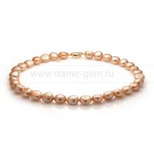 Колье (ожерелье) из золотистого барочного жемчуга 11-12 мм. Артикул 10982