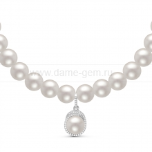Ожерелье с кулоном из белого жемчуга. Артикул 11053