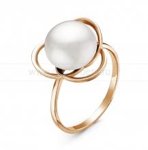 Кольцо из серебра с белой жемчужиной 10,5-11 мм. Артикул 11055