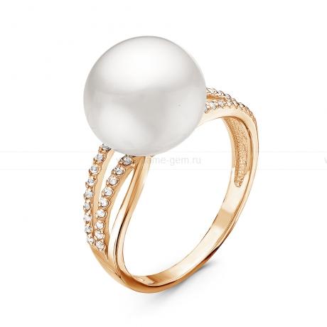 Кольцо из серебра с белой жемчужиной 10,5-11 мм. Артикул 11058