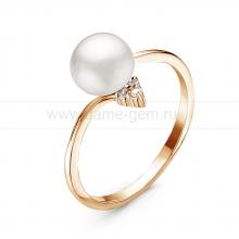 Кольцо с белой речной жемчужиной. Артикул 11061