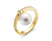 Кольцо с белой морской жемчужиной Акойя. Артикул 11075