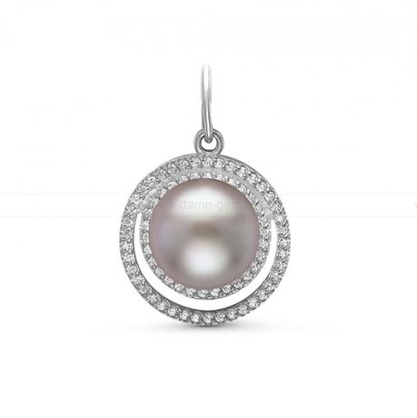 Кулон из серебра с серебристой жемчужиной 10-10,5 мм. Артикул 11098