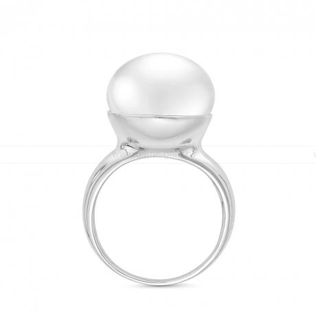 Кольцо из серебра с белой речной жемчужиной. Артикул 11119