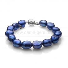 Браслет из синего барочного жемчуга. Артикул 11122