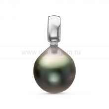 Кулон с черной Таитянской жемчужиной. Артикул 11128