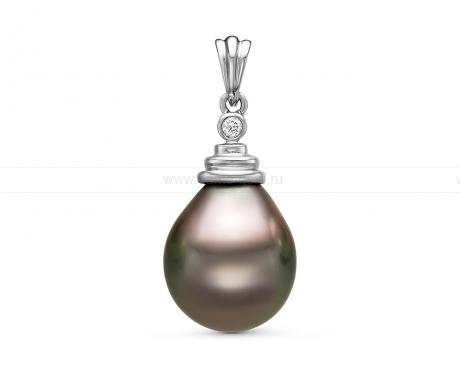 Кулон из белого золота 750 пробы с Таитянской жемчужиной 14-20 мм. Артикул 11129