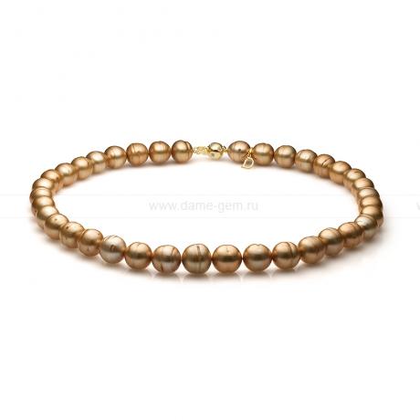 Ожерелье из золотистого барочного жемчуга 11-12 мм. Артикул 11139