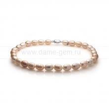 "Колье (ожерелье) ""микс"" из розового барочного жемчуга. Артикул 11140"