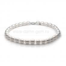 Ожерелье из белого барочного речного жемчуга 11-12 мм. Артикул 11141