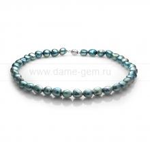 Ожерелье из голубого барочного жемчуга 11-12 мм. Артикул 11143