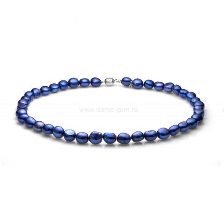 Ожерелье из синего барочного речного жемчуга 11-12 мм. Артикул 11145