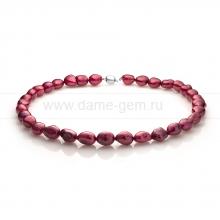 Ожерелье из красного барочного речного жемчуга 11-12 мм. Артикул 11146
