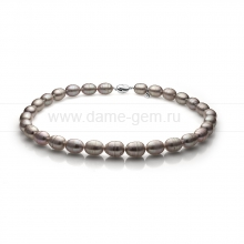 Ожерелье из серого барочного речного жемчуга 11-12 мм. Артикул 11148