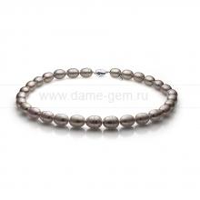 Колье (ожерелье) из серого барочного жемчуга. Артикул 11148