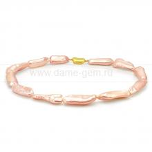 Колье (ожерелье) из розового барочного жемчуга. Артикул 11149
