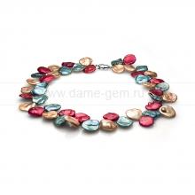 "Ожерелье ""микс"" из речного барочного жемчуга 11-12 мм. Артикул 11150"