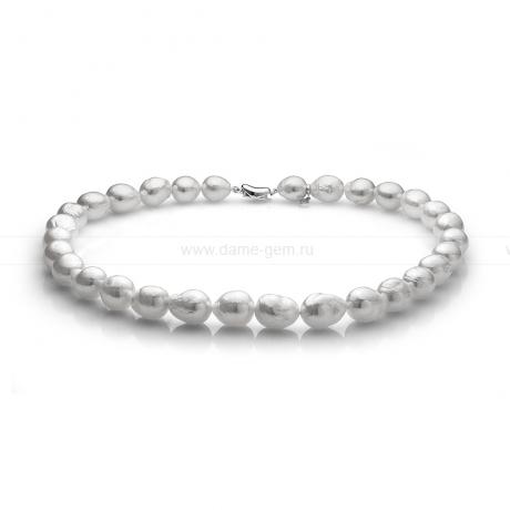 Колье (ожерелье) из белого барочного жемчуга 10-12 мм. Артикул 11152