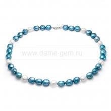 """Колье (ожерелье) """"микс"""" из барочного жемчуга 10-11 мм. Артикул 11156"""