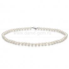 Колье (ожерелье) из белого рисообразного жемчуга. Артикул 11196