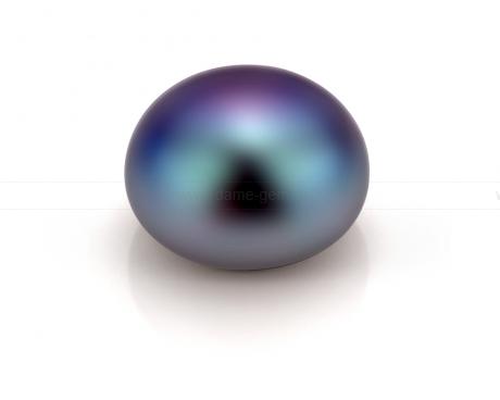 Жемчужина сплющенная черная 9,5-10 мм. Класс наивысший ААА. Артикул 11203