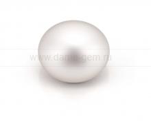 Жемчужина сплющенная белая 9,5-10 мм. Класс наивысший ААА. Артикул 11209