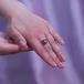Кольцо из золота с черной Таитянской жемчужиной 10-10,5 мм. Артикул 11234