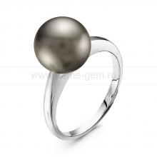 Кольцо с серой Таитянской жемчужиной. Артикул 11235