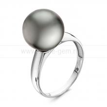 Кольцо с черной Таитянской жемчужиной. Артикул 11236