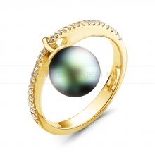 Кольцо с черной Таитянской жемчужиной. Артикул 11255