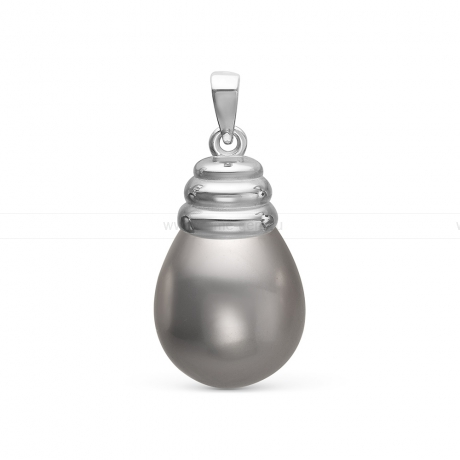 Кулон из серебра с серой жемчужиной