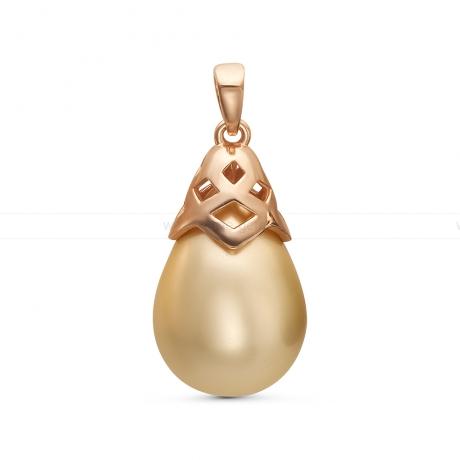 Кулон из серебра с золотистой жемчужиной